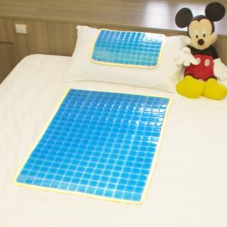 【Seraphic】冰涼Q彈果凍凝膠床墊 座墊 枕墊(大+小雙面冷暖兩用涼墊)