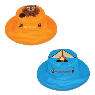 【Flapjack kids】雙面防曬漁夫帽(土撥鼠/帳篷)