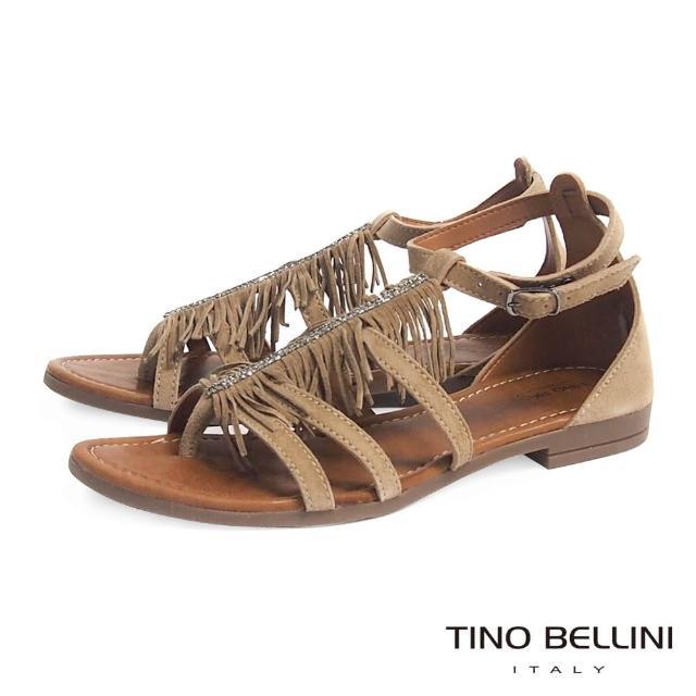 【Tino Bellini】義大利進口波西米亞流蘇平底涼鞋A63079(駝)