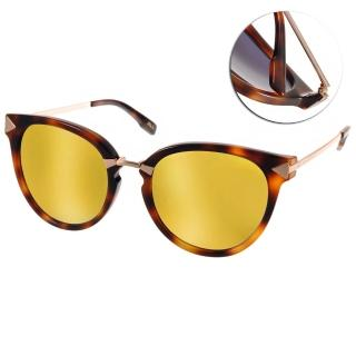 【JILL STUART  太陽眼鏡】水銀鏡面微貓眼款眼鏡(琥珀#JB20013 C02)