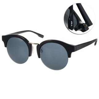 【JILL STUART  太陽眼鏡】經典圓眉框款(黑#JS20006X C01)
