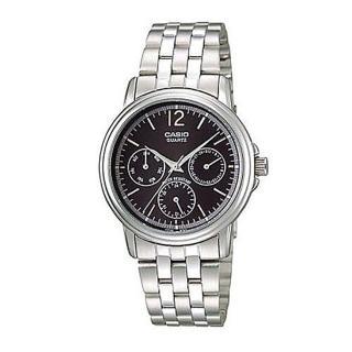 【CASIO】時尚新貴三眼指針造型腕錶(MTP-1174A-1A)