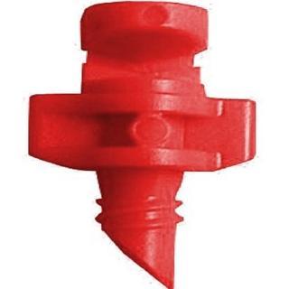 【灑水達人】微霧90度噴頭加四分外牙延伸2分PE管50公分5支(紅)