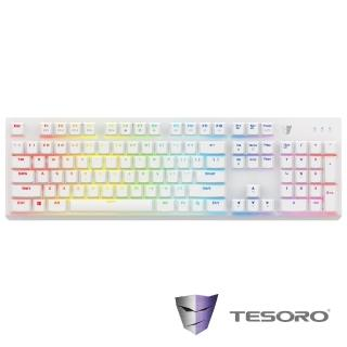 【TESORO鐵修羅】剋龍劍Gram RGB機械式鍵盤-紅軸中文白