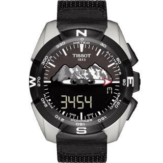 【TISSOT】天梭 T-TOUCH EXPERT 太陽能觸控腕錶-黑/45mm(T0914204605110)
