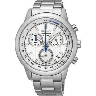 【SEIKO CS】線條時尚計時腕錶(8T68-00A0S/ SSB20SP1)