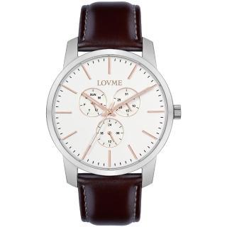 【LOVME】簡約時尚中性手錶-白/43mm(VL0016M-2C-241)