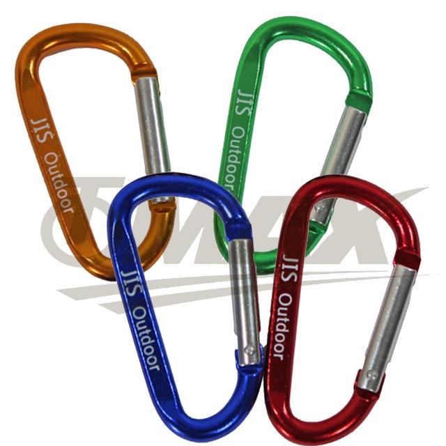 【omax】多用途鋁合金D型扣環-12入(顏色隨機出貨)