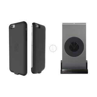 【HOMI】MultiDock 鋁鎂合金多功能無線充電座+iPhone6/6s防摔防震保護殼(QI/NCC雙認證)