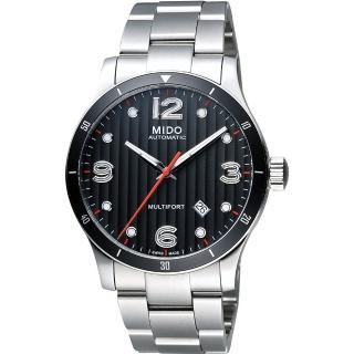 【MIDO】Multifort 先鋒系列時尚機械腕錶-鐵灰x銀/42mm(M0254071106100)