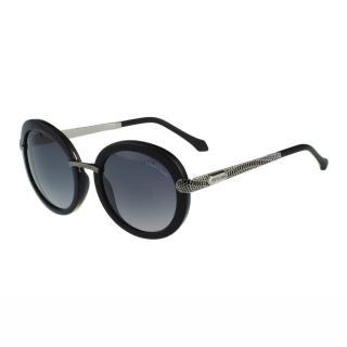 【Roberto Cavalli】-復古圓框太陽眼鏡(黑色)