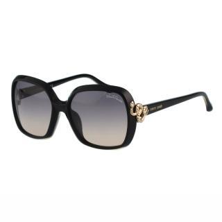 【Roberto Cavalli】-方框 蛇造型太陽眼鏡(黑色)