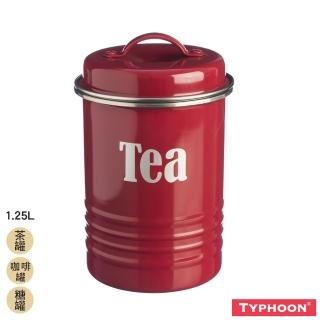 【TYPHOON】復古儲存罐1.25L-紅(茶罐/咖啡罐/糖罐)
