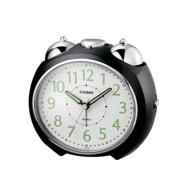 【CASIO】圓弧流線造型鬧鐘(TQ-369-1)