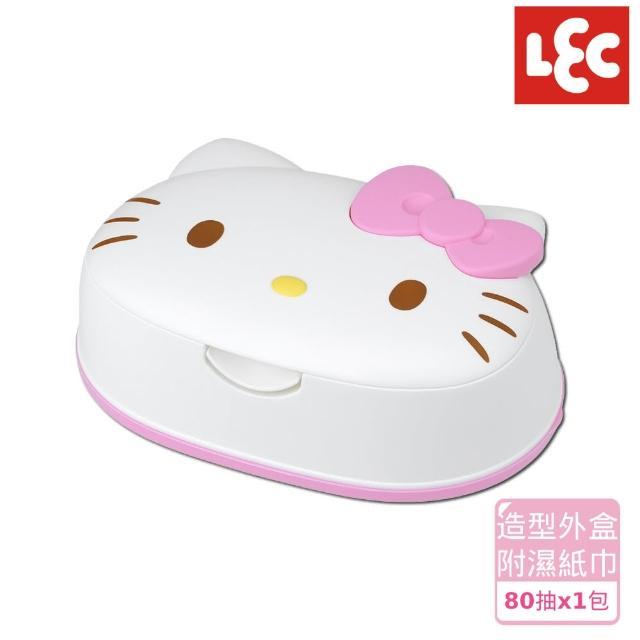 【日本LEC】HelloKitty造型盒裝純水濕紙巾80抽x1包/