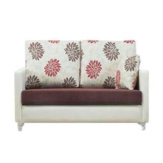 【BODEN】羅莎琳珠光皮雙人座沙發(送抱枕)