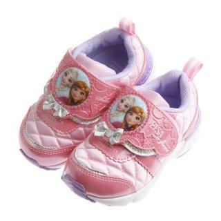 【布布童鞋】Disney冰雪奇緣甜粉色華麗宮廷風內增高運動鞋(ICY804G)