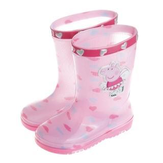 【布布童鞋】粉紅豬小妹佩佩豬附鞋墊粉色愛心兒童雨鞋(AMZ544G)