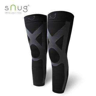 【SNUG】運動壓縮全腿套-1雙(黑灰/全黑款)