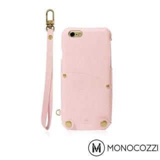 【MONOCOZZI】Posh iPhone 7/8 掛繩口袋皮套(嫩粉紅)