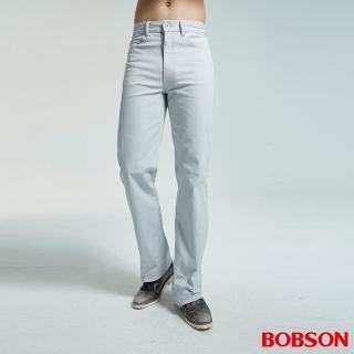 【BOBSON】男款結紗伸縮直筒褲(1695-85)