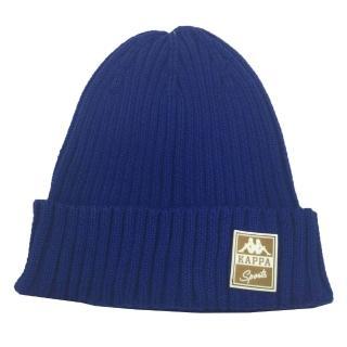 【KAPPA】義大利舒適時尚運動限量版毛線帽(1頂 寶藍)