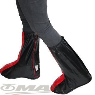 【天龍牌】超跑賽車型雨鞋套-紅黑(12H)