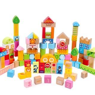 boby木製102顆繽紛樂園有趣積木(木製玩具)