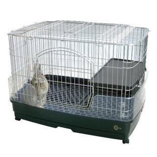 【Marukan】抽屜式豪華兔籠〈附跳板+輪子〉M號(MR-306)