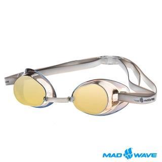 【俄羅斯MADWAVE】成人競技型電鍍泳鏡(RACER SW MIRROR)