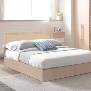 【樂和居】畢斯特三件式5尺雙人房間組2色可選(床頭片+床墊+床底)