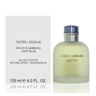 【Dolce & Gabbana】D&G Light Blue  淺藍男性淡香水(125ml Tester 包裝)