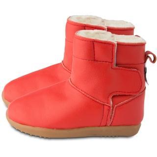 【shooshoos】安全無毒真皮健康手工童鞋/靴子_經典紅_102760(公司貨)