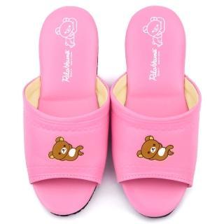 【童鞋城堡】拉拉熊 成人款 靜音防滑室內拖鞋(KM26174-粉)