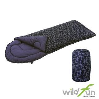 【WildFun 野放】加大型舒適睡袋(印花)