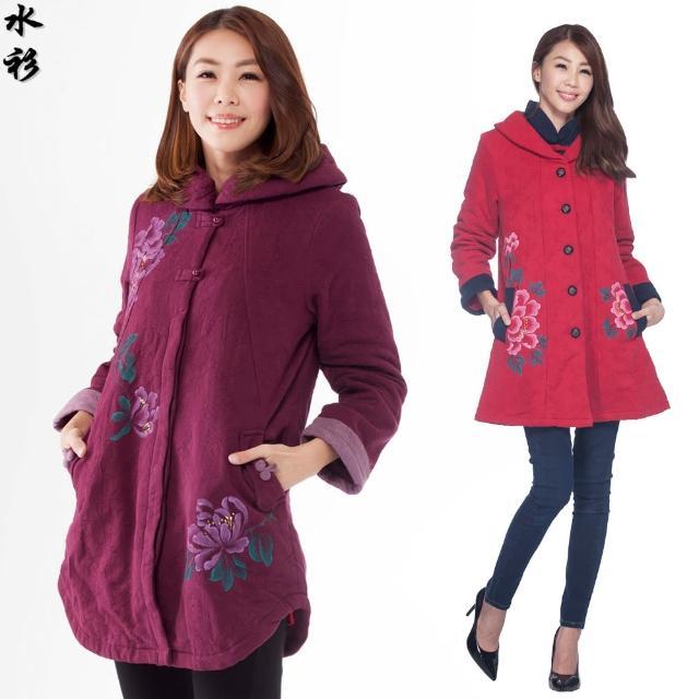 【水衫】緹花暖暖鋪棉大衣(D09-21)