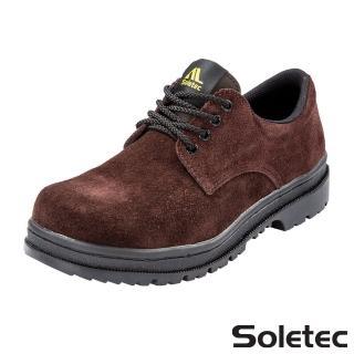 【Soletec超鐵安全鞋】C106505 反毛皮工作鞋 鋼頭鞋(鞋帶款 台灣製造)