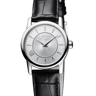 【Hugo Boss Black】簡約流線時尚皮帶女錶(H1502328)