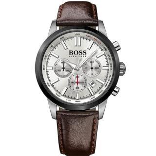 【Hugo Boss Black】紳仕風範計時運動腕錶(H1513184)