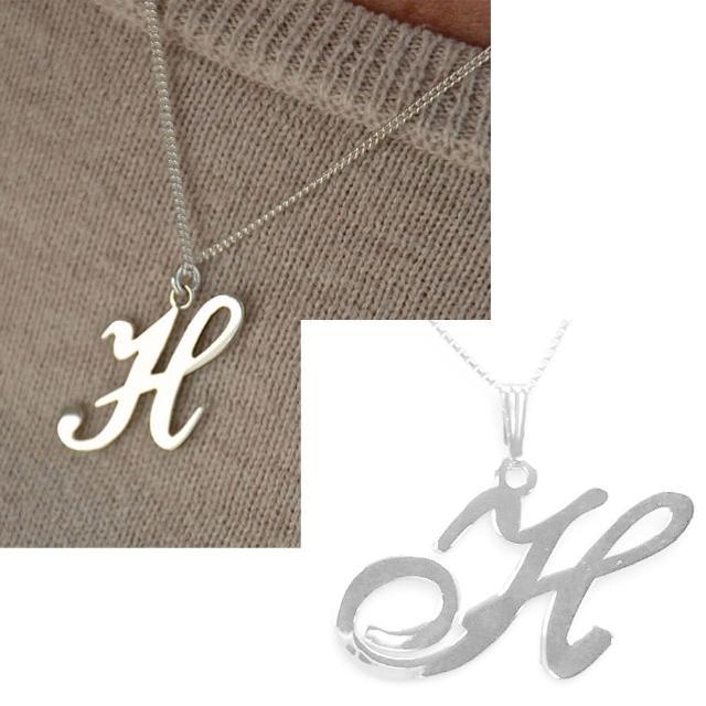 【Anna Lou Of London】倫敦品牌 H 個性字母項鍊 銀(絕版品 售完不補)