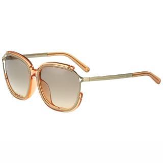 【CHLOE】-太陽眼鏡 方框 經典款CE694SA-749(透明粉膚色)