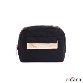【satana】Mini隨身化妝包/零錢包(黑色)