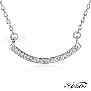 【AchiCat】925純銀項鍊 純銀飾 微笑天使 鎖骨鍊 CS6025