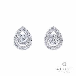 【A-LUXE 亞立詩】18K金0.35克拉鑽石兩用耳環