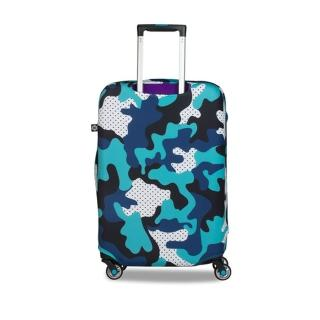 【BG Berlin】行李箱套-藍迷彩 M(適用22-24吋行李箱)