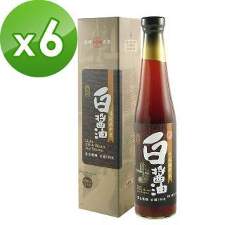 【大同醬油】大同壼底白醬油x6入(手工粹釀180天)