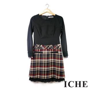 【ICHE 衣哲】羊毛微高領鏤空針織上衣 兩色
