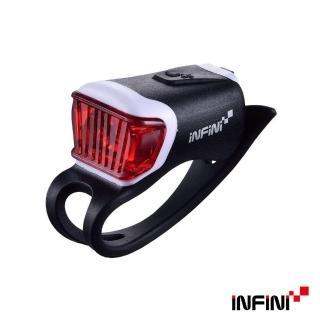 【INFINI】ORCA I-204R 鯨魚USB充電式紅光警示燈(黑)