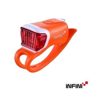 【INFINI】ORCA I-204R 鯨魚USB充電式紅光警示燈(橘)