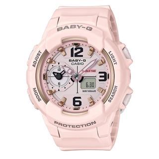 【CASIO】BABY-G 甜美柔和中性風格雙顯錶(BGA-230SC-4B)
